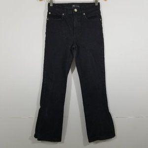 Zara Open Leg Crop Jeans Size 4